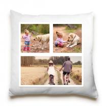Single Sided 3 Image Collage Cushion