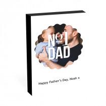 """8"""" x 6"""" No1 Dad Image Photo block"""