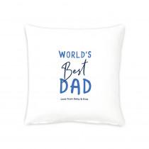 """16"""" World's Best Dad Cushion"""