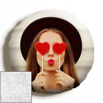 18inch Single Image Round Faux Suede Cushion