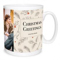 Vintage Illustrated Christmas Mug