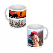 2 Long Image + 1 Square Image Mug