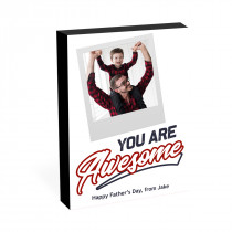 """8"""" x 6"""" You Are Awesome Photo block"""