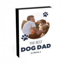 """8"""" x 6"""" Best Dog Dad Photo block"""