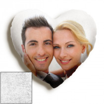 15inch Single Image Faux Suede Heart Cushion