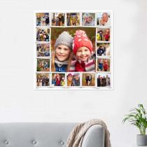 17 Image Vintage Print Collage