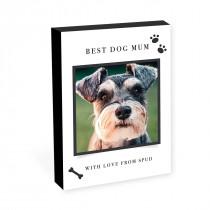 "8"" x 6"" Best Dog Parent Photo Block"