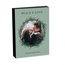 8x6 Christmas Wreath Photo Block