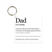 Dad Definition Photo Keyring
