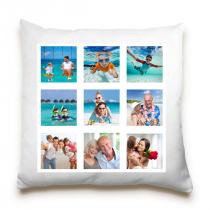 Single Sided 9 Image Collage Cushion