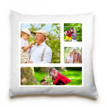 Single Sided 4 Square Image Collage Cushion