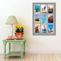 9 Image Grey Border Portrait Collage