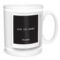 Double Image Vintage Print Mug