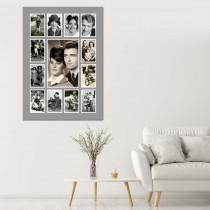 13 Image Grey Border Portrait Collage