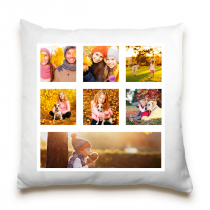 Single Sided 7 Image Collage Cushion