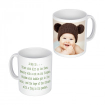 Right handed Image + Text Mug