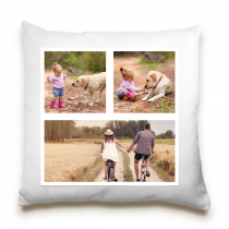 Single Sided 3 Image Collage Cushion