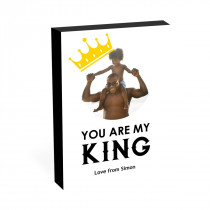 """8"""" x 6"""" You Are My King Image Photo block"""