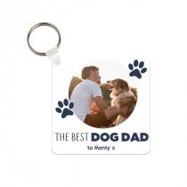Best Dog Dad Photo Keyring