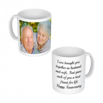 Left handed Image + Text Mug (text is optional)