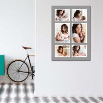 6 Image Grey Border Portrait Collage