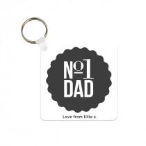 No1 Dad Photo Keyring