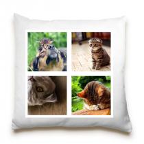 Single Sided 4 Image Collage Cushion