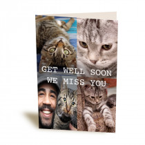 """5x7"""" 4 Image Collage Greetings Card"""