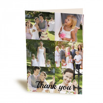 """5x7"""" 6 Image Collage Greetings Card"""
