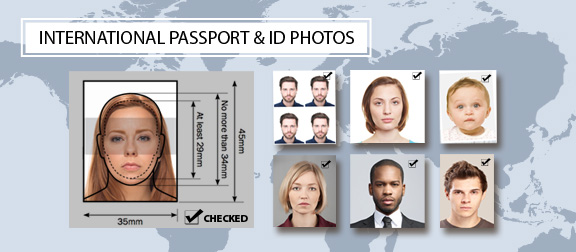 International passport and id photos