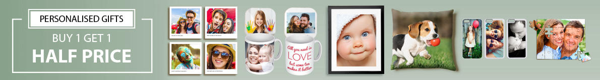 Personalised photo gifts (One Across)