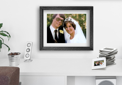 print from slides framed print